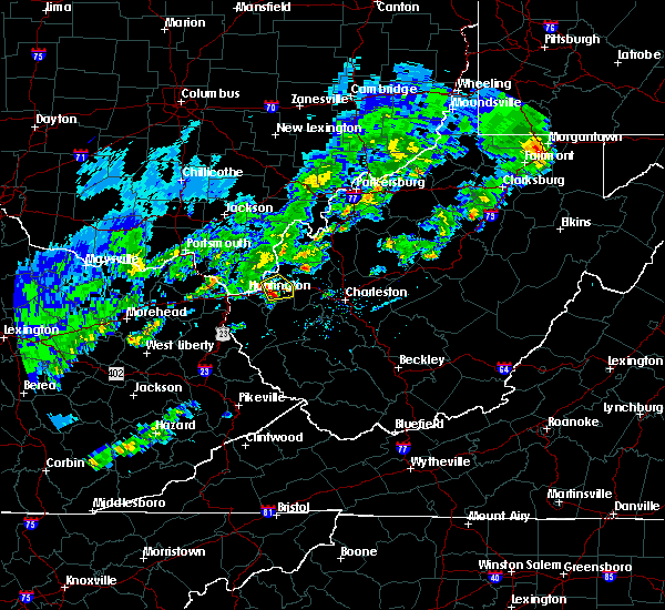 Radar Image for Severe Thunderstorms near Athalia, OH at 4/11/2017 7:17 PM EDT