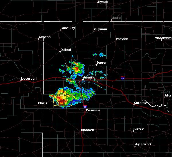 Radar Image for Severe Thunderstorms near Dimmitt, TX at 4/14/2017 6:16 PM CDT