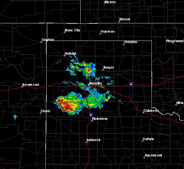 Radar Image for Severe Thunderstorms near Dimmitt, TX at 4/14/2017 6:37 PM CDT