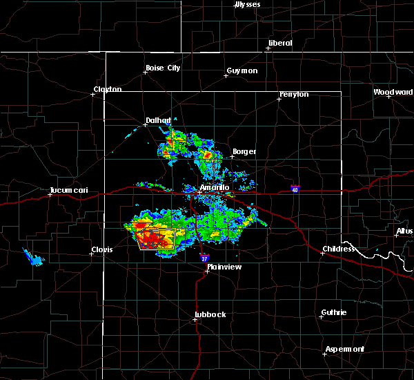 Radar Image for Severe Thunderstorms near Dimmitt, TX at 4/14/2017 6:46 PM CDT