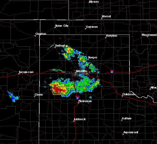 Radar Image for Severe Thunderstorms near Dimmitt, TX at 4/14/2017 6:59 PM CDT
