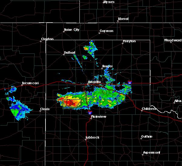 Radar Image for Severe Thunderstorms near Dimmitt, TX at 4/14/2017 7:37 PM CDT