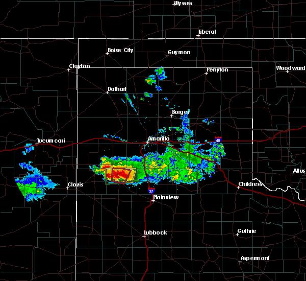 Radar Image for Severe Thunderstorms near Dimmitt, TX at 4/14/2017 7:47 PM CDT