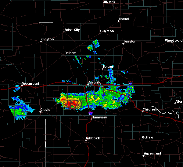Radar Image for Severe Thunderstorms near Dimmitt, TX at 4/14/2017 7:46 PM CDT