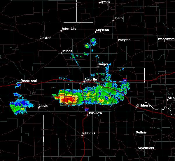 Radar Image for Severe Thunderstorms near Dimmitt, TX at 4/14/2017 7:56 PM CDT