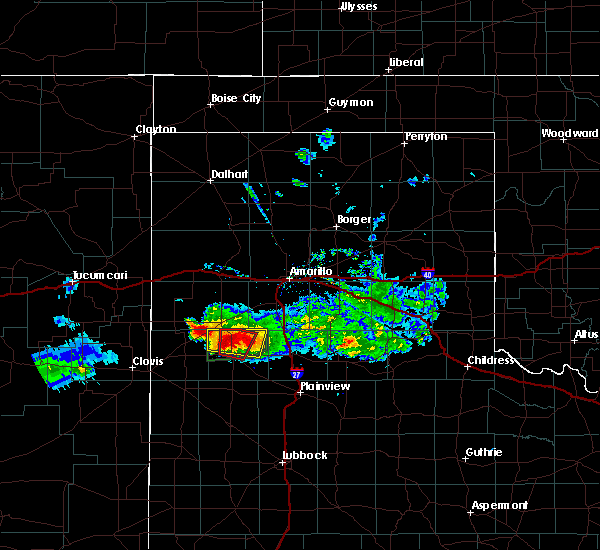 Radar Image for Severe Thunderstorms near Dimmitt, TX at 4/14/2017 8:02 PM CDT