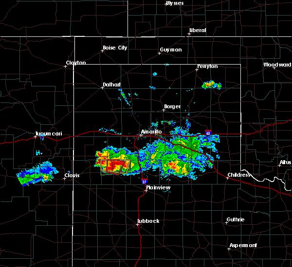 Radar Image for Severe Thunderstorms near Dimmitt, TX at 4/14/2017 8:11 PM CDT