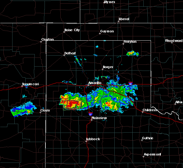 Radar Image for Severe Thunderstorms near Dimmitt, TX at 4/14/2017 8:17 PM CDT