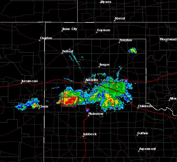 Radar Image for Severe Thunderstorms near Dimmitt, TX at 4/14/2017 8:35 PM CDT