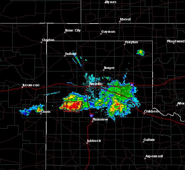 Radar Image for Severe Thunderstorms near Dimmitt, TX at 4/14/2017 8:41 PM CDT