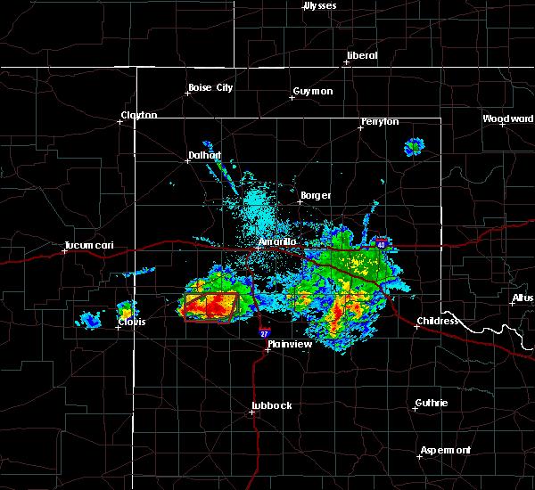 Radar Image for Severe Thunderstorms near Dimmitt, TX at 4/14/2017 8:53 PM CDT