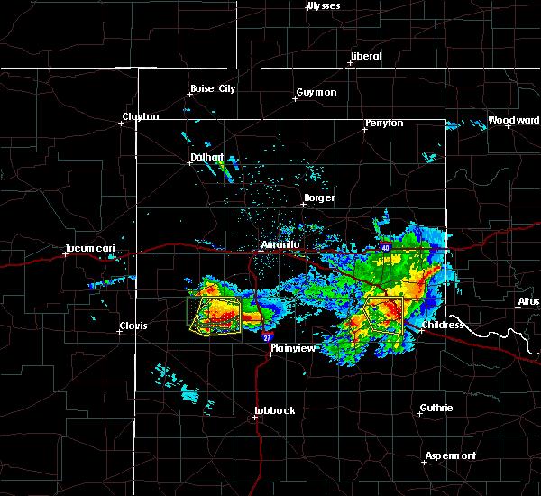Radar Image for Severe Thunderstorms near Dimmitt, TX at 4/14/2017 10:00 PM CDT