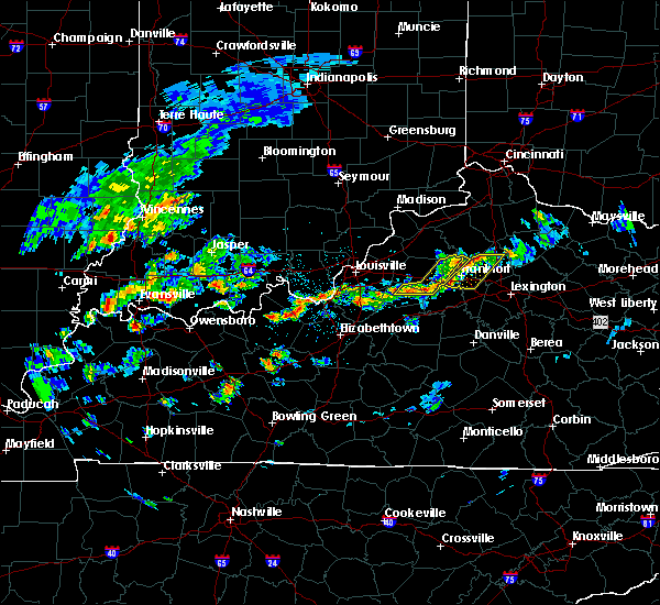 Radar Image for Severe Thunderstorms near Frankfort, KY at 4/16/2017 3:30 PM EDT