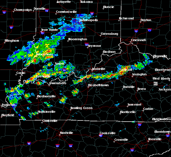 Radar Image for Severe Thunderstorms near Frankfort, KY at 4/16/2017 3:50 PM EDT