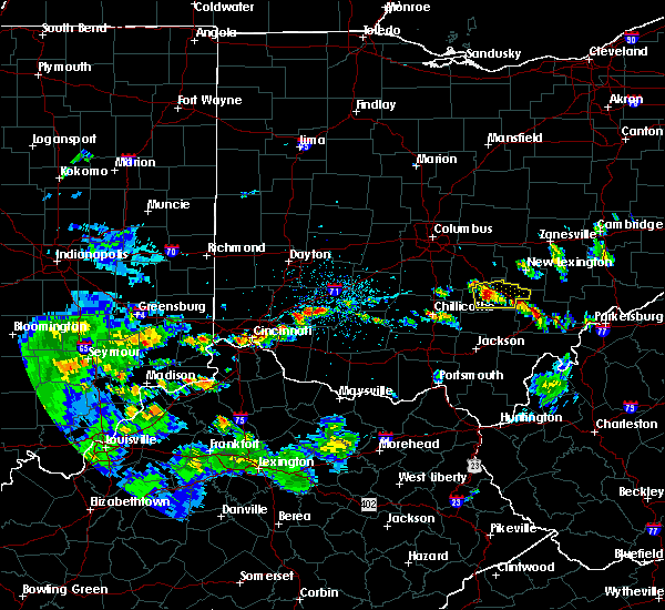 Radar Image for Severe Thunderstorms near Logan, OH at 4/16/2017 5:33 PM EDT