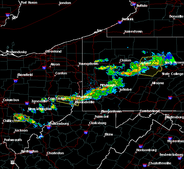 Radar Image for Severe Thunderstorms near Youngstown, PA at 4/16/2017 5:45 PM EDT