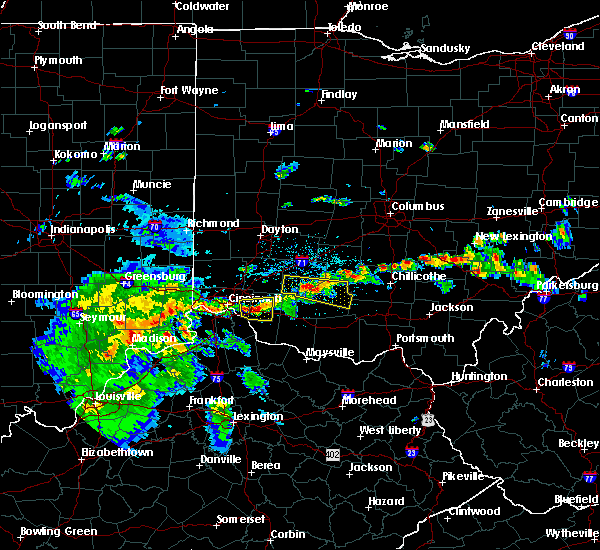 Radar Image for Severe Thunderstorms near Cincinnati, OH at 4/16/2017 6:17 PM EDT