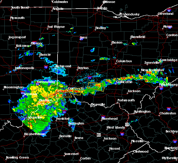 Radar Image for Severe Thunderstorms near Cincinnati, OH at 4/16/2017 6:44 PM EDT