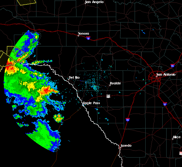 Radar Image for Severe Thunderstorms near Sanderson, TX at 4/16/2017 6:55 PM CDT