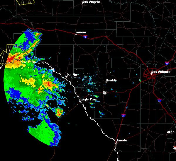 Radar Image for Severe Thunderstorms near Sanderson, TX at 4/16/2017 7:17 PM CDT