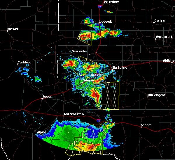 Radar Image for Severe Thunderstorms near Sanderson, TX at 4/16/2017 7:45 PM CDT
