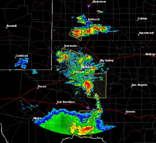 Radar Image for Severe Thunderstorms near Sanderson, TX at 4/16/2017 8:00 PM CDT