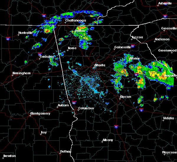 Radar Image for Severe Thunderstorms near Rutledge, GA at 4/18/2017 6:09 PM EDT