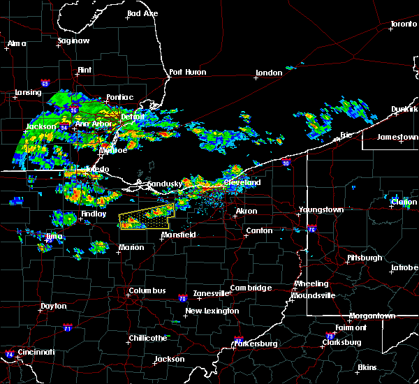 Radar Image for Severe Thunderstorms near Attica, OH at 4/19/2017 5:05 PM EDT