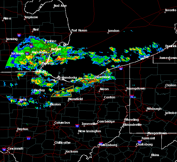 Radar Image for Severe Thunderstorms near Tiro, OH at 4/19/2017 5:26 PM EDT
