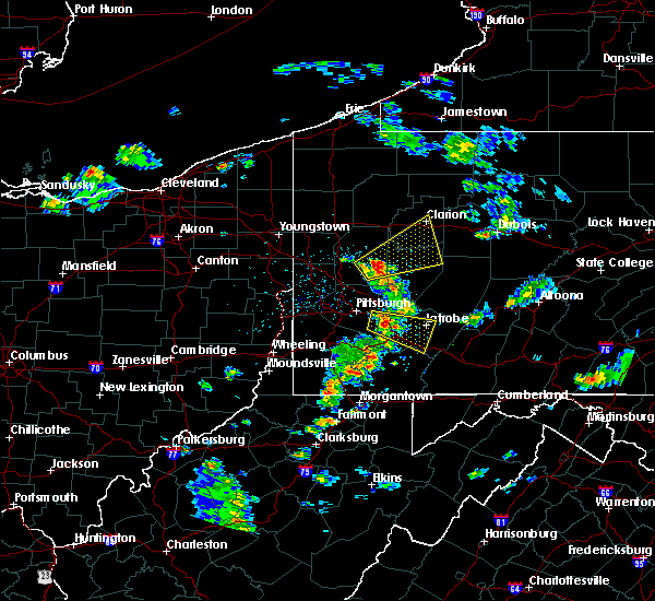 Radar Image for Severe Thunderstorms near Youngstown, PA at 4/20/2017 2:32 PM EDT