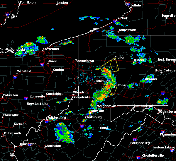 Radar Image for Severe Thunderstorms near Youngstown, PA at 4/20/2017 2:48 PM EDT