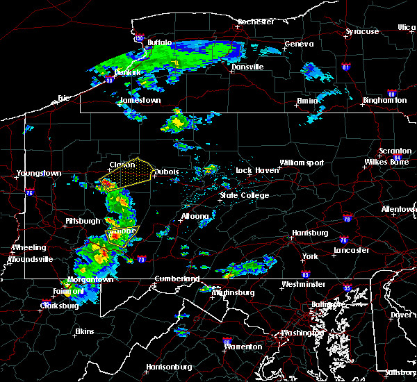 Radar Image for Severe Thunderstorms near New Bethlehem, PA at 4/20/2017 3:18 PM EDT