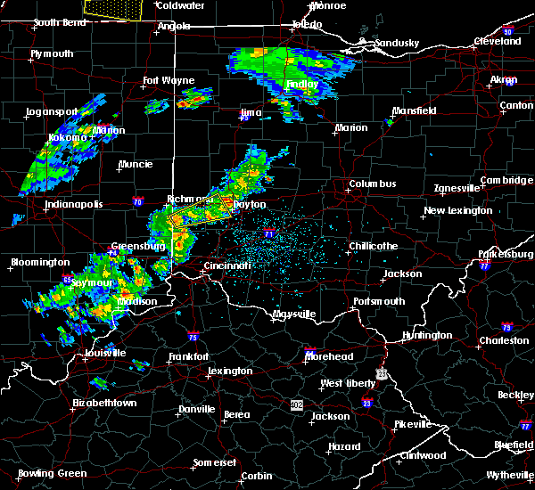Radar Image for Severe Thunderstorms near Brookville, OH at 4/20/2017 4:19 PM EDT