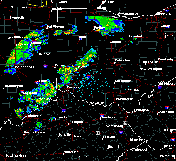 Radar Image for Severe Thunderstorms near Dayton, OH at 4/20/2017 4:37 PM EDT