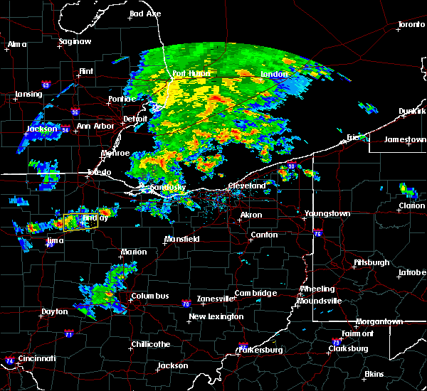 Radar Image for Severe Thunderstorms near Rawson, OH at 4/20/2017 5:32 PM EDT