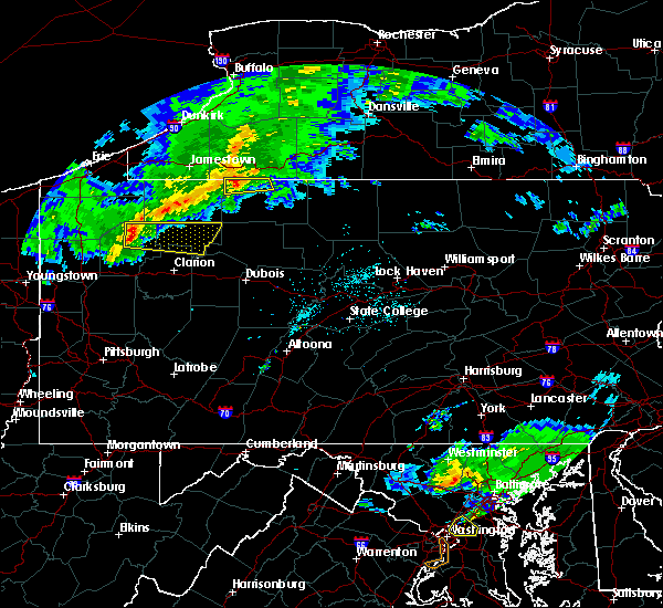 Radar Image for Severe Thunderstorms near Titusville, PA at 4/20/2017 8:43 PM EDT