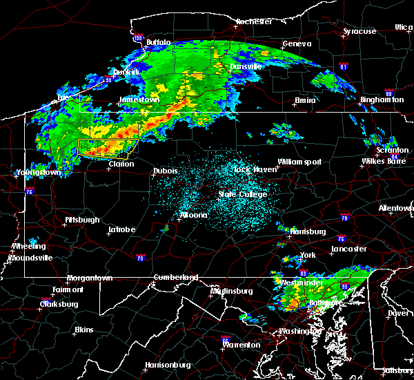 Radar Image for Severe Thunderstorms near Pleasantville, PA at 4/20/2017 9:16 PM EDT
