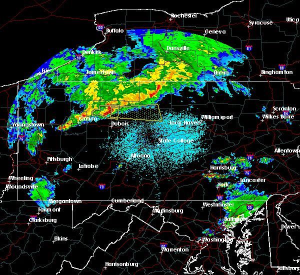 Radar Image for Severe Thunderstorms near Kersey, PA at 4/20/2017 10:16 PM EDT