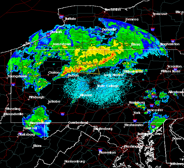 Radar Image for Severe Thunderstorms near Emporium, PA at 4/20/2017 10:52 PM EDT
