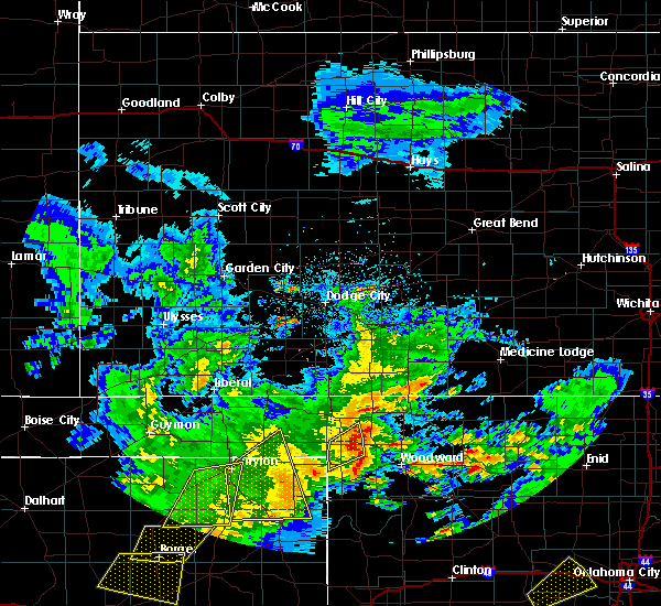 Radar Image for Severe Thunderstorms near Woodward, OK at 4/21/2017 5:56 AM CDT
