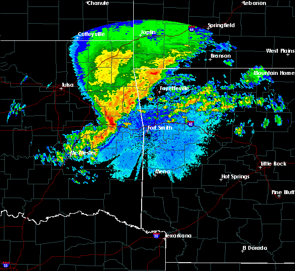Radar Image for Severe Thunderstorms near Brushy, OK at 4/21/2017 6:08 AM CDT