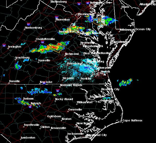 Radar Image for Severe Thunderstorms near Short Pump, VA at 4/21/2017 6:34 PM EDT