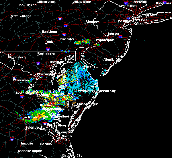 Radar Image for Severe Thunderstorms near Williston, MD at 4/21/2017 8:23 PM EDT
