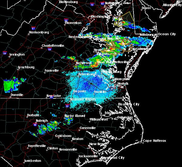 Radar Image for Severe Thunderstorms near Heathsville, VA at 4/21/2017 8:35 PM EDT