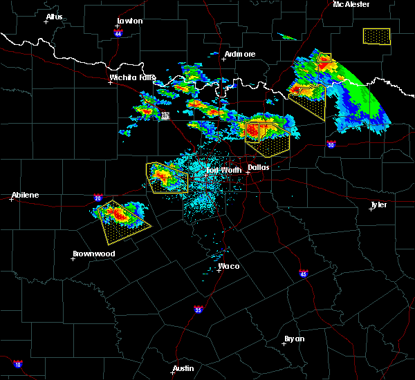 Radar Image for Severe Thunderstorms near Gunter, TX at 4/21/2017 8:37 PM CDT