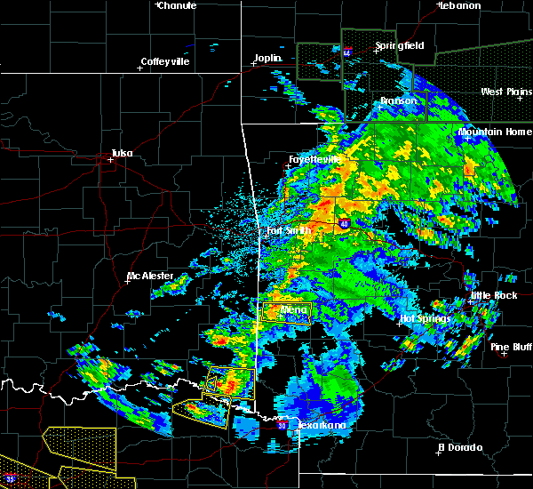 Radar Image for Severe Thunderstorms near Mena, AR at 4/21/2017 10:34 PM CDT
