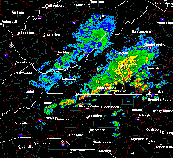 Radar Image for Severe Thunderstorms near Blairs, VA at 4/22/2017 3:15 PM EDT