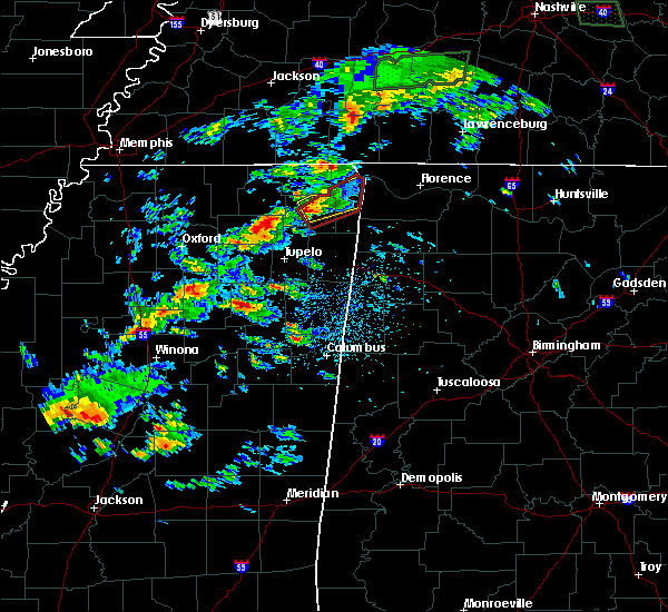 Radar Image for Severe Thunderstorms near Iuka, MS at 4/22/2017 2:46 PM CDT