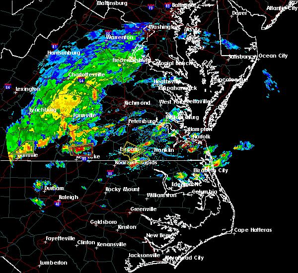 Radar Image for Severe Thunderstorms near Boykins, VA at 4/22/2017 3:52 PM EDT