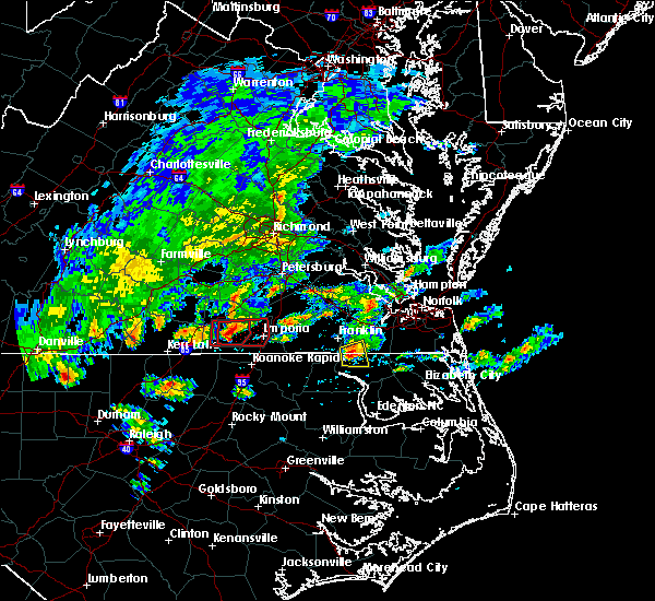 Radar Image for Severe Thunderstorms near Lawrenceville, VA at 4/22/2017 4:42 PM EDT